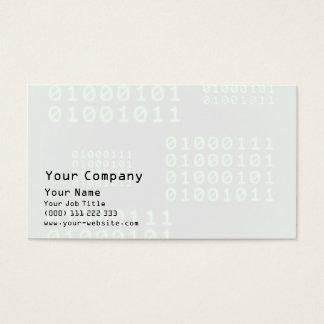 Cartes De Visite Code binaire pour le GEEK