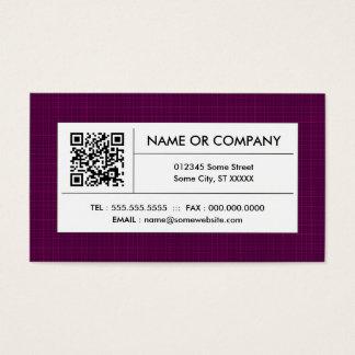 Cartes De Visite code du plaid QR
