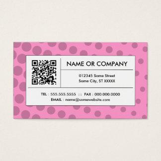 Cartes De Visite code rose de l'image tramée QR
