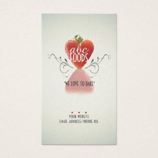 Cartes De Visite Coeur de fraise (cuisson/décoration de