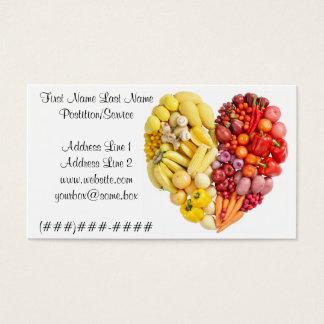 Cartes De Visite Coeur végétarien