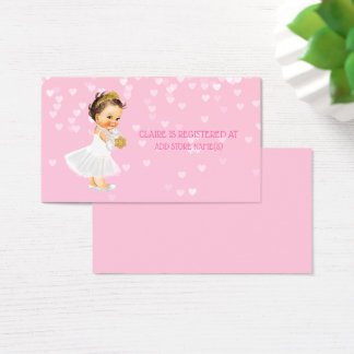 Cartes De Visite Coeurs d'insertion d'enregistrement de baby shower