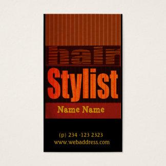 Cartes De Visite Coiffeur moderne énervé de salons de typographie