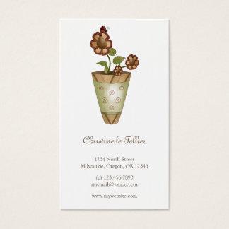 Cartes De Visite Collection de jardin · Fleurs mises en pot