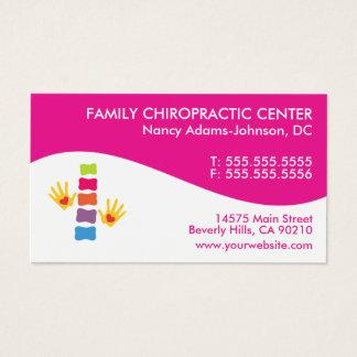 Cartes de visite colorés de chiropractie de remous