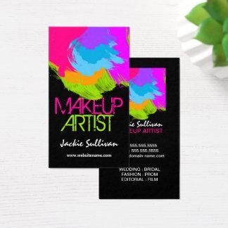 Cartes de visite colorés de maquilleur de traçages