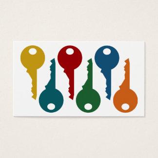 Cartes de visite colorés de serrurier
