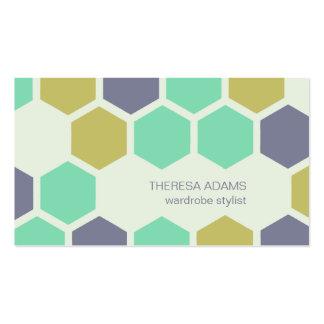Cartes de visite colorés géométriques d hexagones cartes de visite personnelles