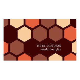 Cartes de visite colorés géométriques d hexagones cartes de visite professionnelles