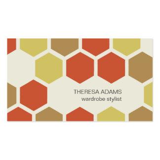 Cartes de visite colorés géométriques d hexagones modèle de carte de visite