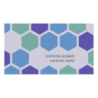 Cartes de visite colorés géométriques d hexagones modèles de cartes de visite