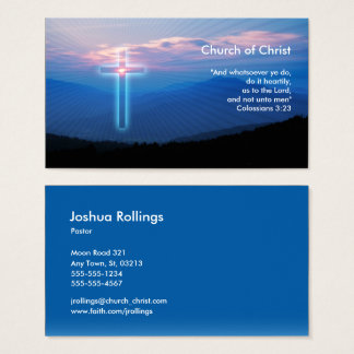Cartes De Visite Colossians 3 ; inspiré pipe% chrétien de 23 %
