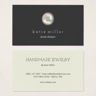 Cartes De Visite Concepteur brillant de bijoux de la perle |