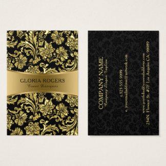 Cartes De Visite Concepteur floral Templat d'or et d'événement de