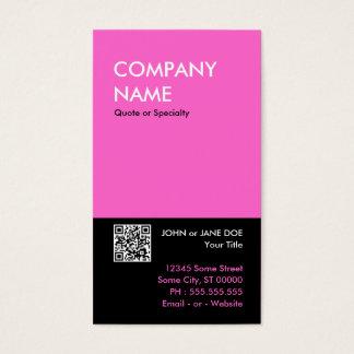 Cartes De Visite conception audacieuse rose votre propre code de QR