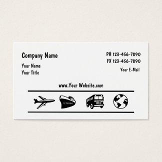 Cartes De Visite Conception d'agent d'agence de voyages