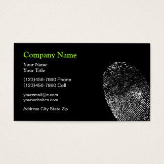 Cartes De Visite Conception de protection de sécurité