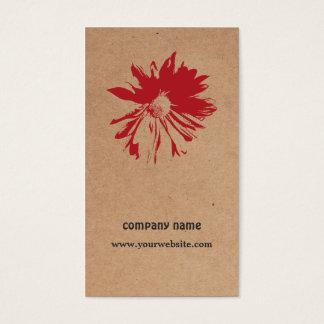 Cartes De Visite Conception florale de Brown emballage de fleur
