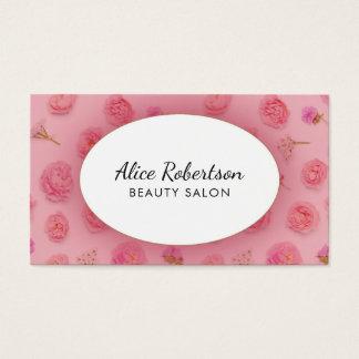 Cartes De Visite Conception florale rose