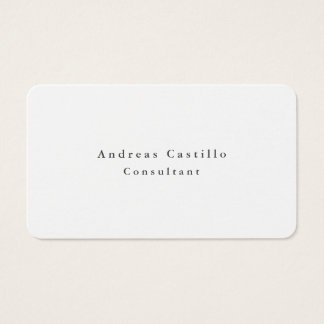 Cartes De Visite Conception minimaliste blanche noire simple simple