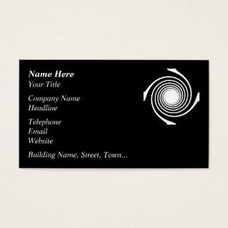Cartes De Visite Conception noire et blanche de remous