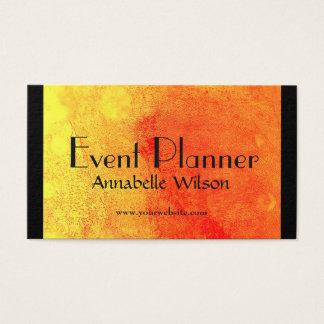 Cartes De Visite Conception orange lumineuse d'organisateur