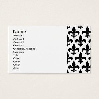 Cartes De Visite Conception parisienne de motif de fleur de lis de