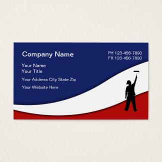 Cartes De Visite Conception patriotique de peintre de Chambre