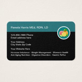 Cartes De Visite Conception professionnelle de diététicien
