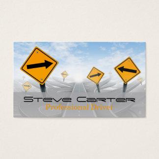 Cartes De Visite Conducteur/transport/panneau routier des véhicules