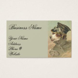 Cartes De Visite Conducteur vintage de chien