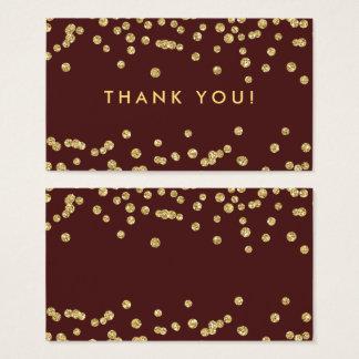 Cartes De Visite Confettis Marsala de parties scintillantes d'or