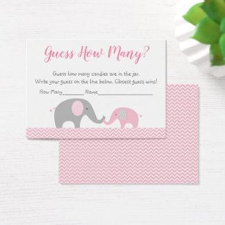 Cartes De Visite Conjecture d'éléphant rose combien jeu