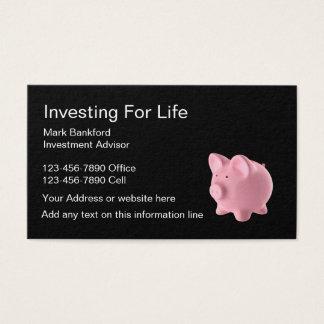 Cartes De Visite Conseiller en investissement