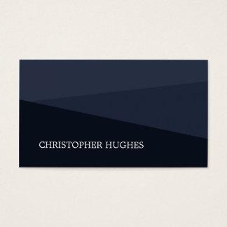 Cartes De Visite Conseiller géométrique bleu élégant moderne