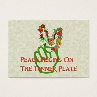 Cartes De Visite Consommation pour la paix