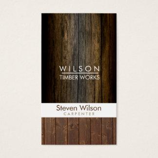 Cartes De Visite Constructeur en bois de boisage de construction de