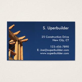Cartes De Visite Construction de cadre de toit nouvelle