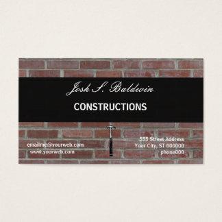 Cartes De Visite Construction simple moderne de mur de briques de