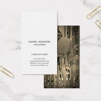 Cartes De Visite Consultant en matière élégant professionnel de