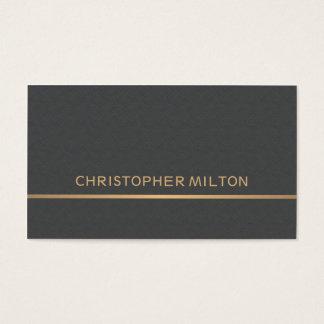 Cartes De Visite Consultant en matière gris d'or de Faux de texture