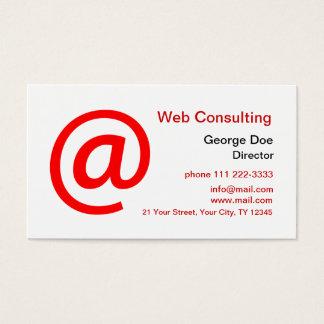 Cartes De Visite Consultation de Web