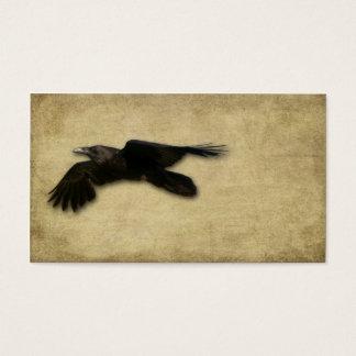 Cartes De Visite Corneille noire solitaire artistique