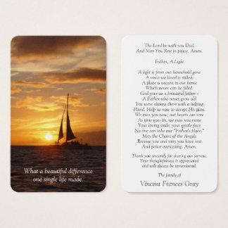 Cartes De Visite Coucher du soleil hawaïen funèbre commémoratif de