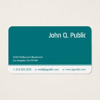 Cartes De Visite Couleur de bleu de turquoise