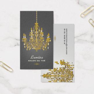 Cartes De Visite Couleur de l'or Chandelier/DIY de faux de