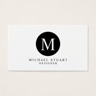 Cartes De Visite Couleur faite sur commande minimaliste moderne