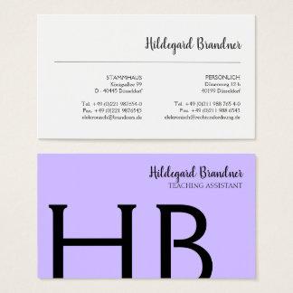 Cartes De Visite Couleurs de typographie et de ressort