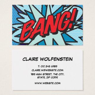 Cartes De Visite COUP personnalisé de bande dessinée d'art de bruit