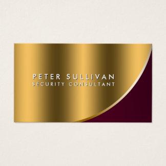 Cartes De Visite Courbe spéciale d'or de qualifications de